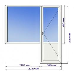Балконный блок с тройным остеклением