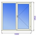 Окно пластиковое двустворчатое 3 стекла