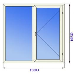 Окно пластиковое двустворчатое с двойным остеклением