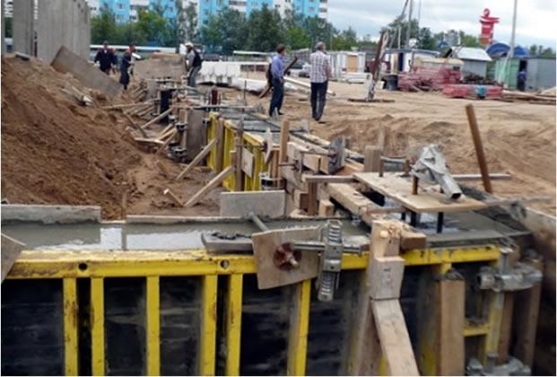 бетонирование монолитных ростверков обвязка свай