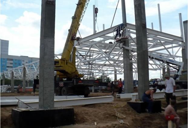 монтаж стальных конструкций